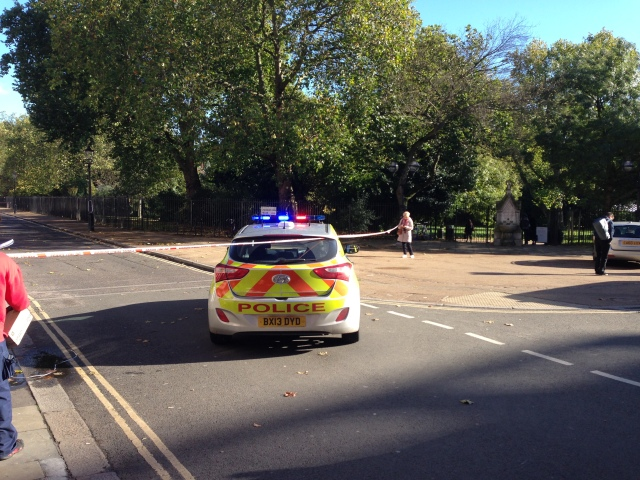 Police cordon Lincoln's Inn Fields